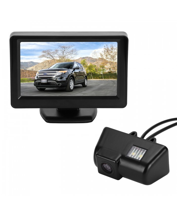 BRAUTO CCD 4.3'' Monitor Rear View Reverse Reversing Camera Kit For Ford Transit Connect