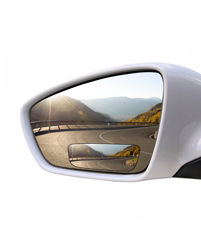BRAUTO 2pcs Universal Rear Side View Blind Spot Mirror For Car Auto SUV 360° Wide Angle Convex Type C