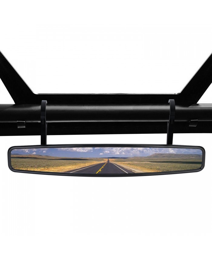 "BRAUTO 1.75"" UTV Wide Rear View Mirror for ROUND ROLL BAR Polaris RZR XP 4 Arctic Cat"