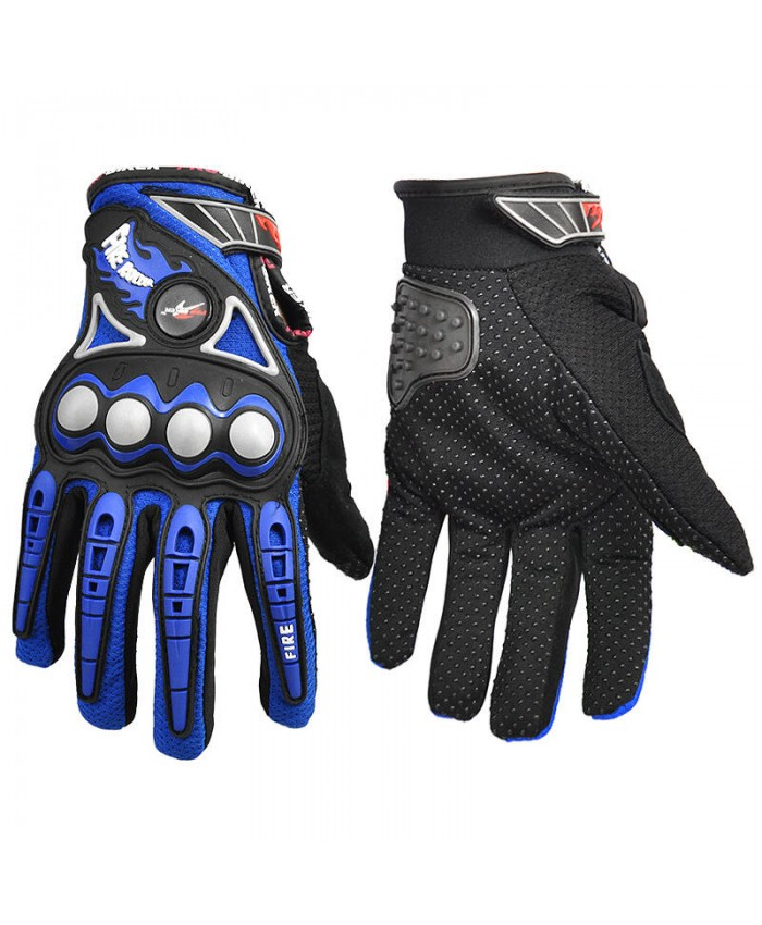 BRAUTO Summer Motorcycle Motorbike Gloves Blue